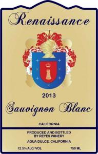2013 Sauvignon Blanc Ren Front