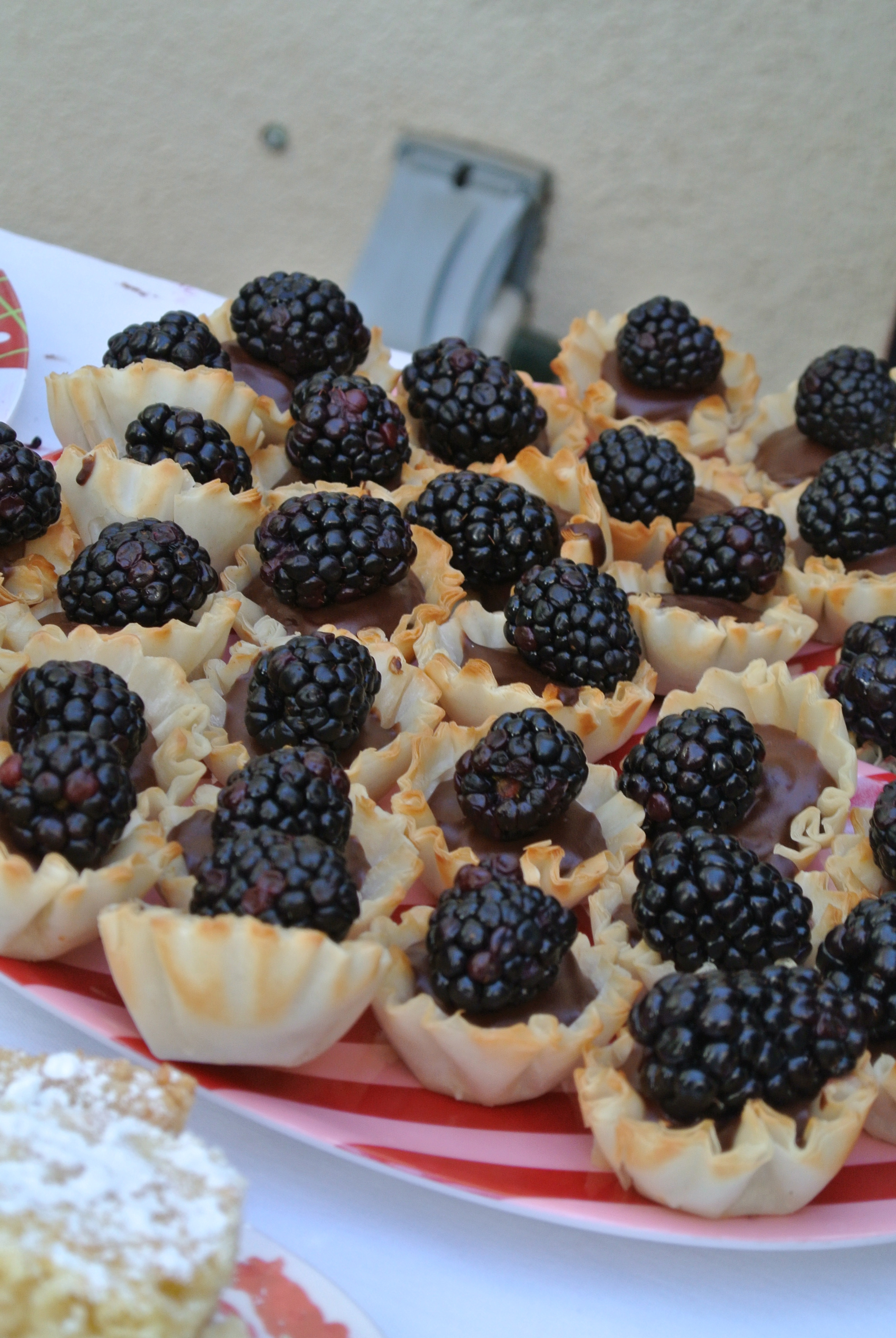 Chocolate Pudding Phyllo Cups