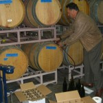 Robert Reyes bottling our 2011 Quinn's Zin