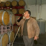 Robert Reyes having a taste of the 2011 Quinn's Zin